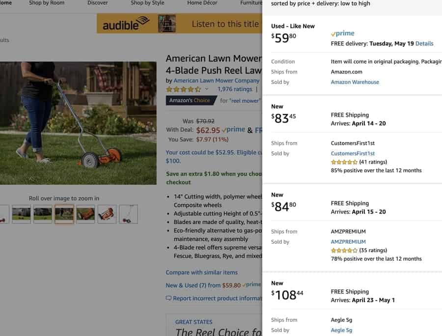 Used Lawn Mowers Amazon